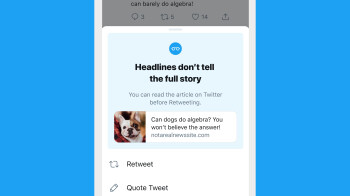 Twitter's 'read before sharing' test is spreading to iOS
