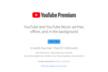 YouTube offers 3 months of Premium membership for free