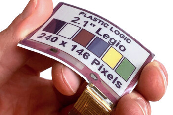 Plastic Logic and E Ink unveil the first flexible color display