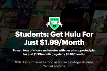 Hulu launches cheap $2 monthly plan for students