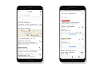 Google announces COVID-19-related changes to Maps and Search apps