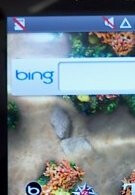 Sneak peek shots of the Samsung Fascinate reveals Bing's presence