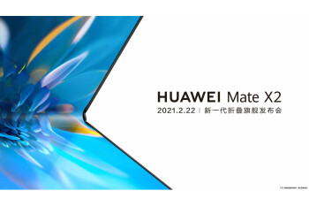 Huawei Mate X2 to be officially announced on February 22nd with an inward folding display