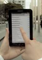 Ad for Samsung Galaxy Tab ready for primetime