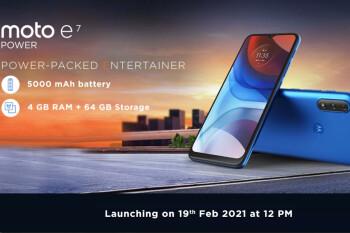 Motorola to launch the Moto E7 Power on February 19, full specs revealed
