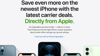 Apple's website now let's you get a better carrier deal for your new iPhone 12