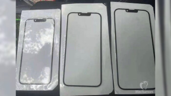 Alleged iPhone 13 5G glass panels show off rumored smaller notch