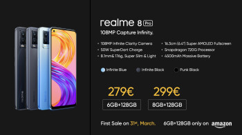 Realme 8 Pro is unveiled with Samsung's 108MP camera sensor