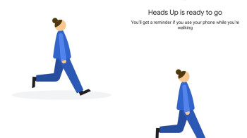 'Heads Up' is the Android feature which will help you not get run over by a car