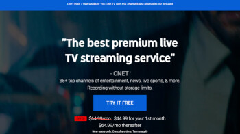 Lucky new customers get $20 off YouTube TV's subscription service