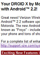 DROID DOES web site appears to predict Froyo upgrade for DROID X
