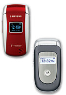 Motorola V195 and Samsung T209 launched by T-Mobile