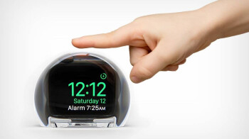 This cool glass dock for your Apple Watch turns it into an alarm clock