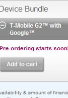 T-Mobile will soon begin to accept pre-orders for the G2