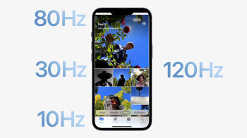 Apple's first 120Hz display on an iPhone is all Samsung
