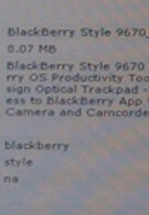BlackBerry Style 9670 appears on Sprint's inventory system