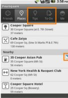 Foursquare app for Android now places