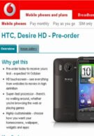 Vodafone UK is now readily accepting pre-orders for the HTC Desire HD
