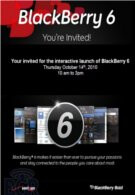 'Interactive launch' of BlackBerry 6 with Big Red is set for October 14th