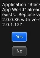 BlackBerry App World upgraded to version 2.01.12