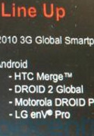 Verizon's global lineup for Q4 leaked