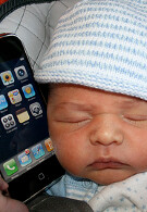 Apple iPhone becoming new pacifier for toddlers