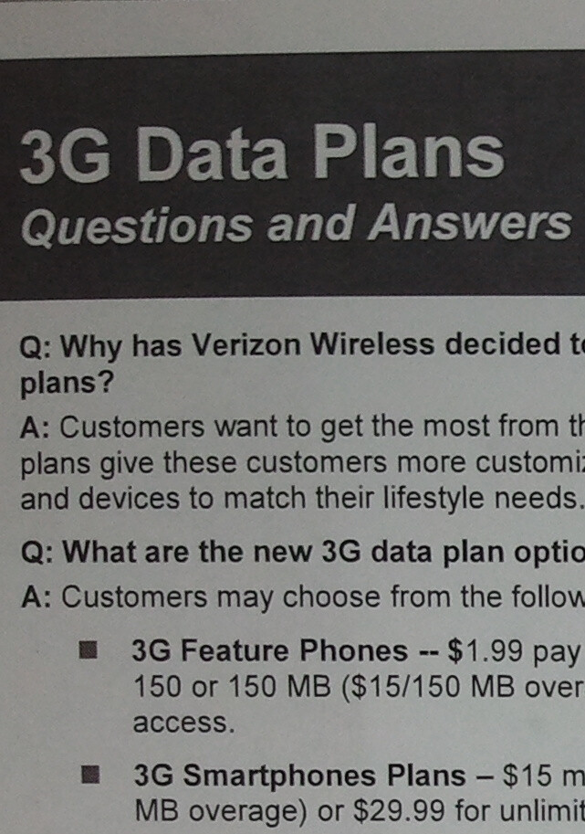New data plans coming to Verizon