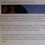 Samsung Vibrant and myTouch Slide ready for T-Mobile TV update