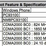HTC 7 Pro with CDMA flavoring passes through the FCC?