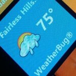 WeatherBug app for WP7 is one of the first third party apps to offer live tiles support