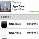 White iPhone 4 is made as a selection in Apple's 'Store' app