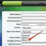 HTC Mecha leaked on HTC Sense website