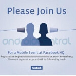 Facebook to hold mobile event at its HQ on November 3rd