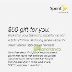 Sprint offers new customers vouchers worth $50 for Samsung Media Hub if they buy Epic 4G or Galaxy Tab
