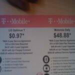 Walmart prices the LG Optimus T at $0.97 & Motorola DEFY at $48.88