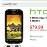 Wirefly, RadioShack, & Target is selling the T-Mobile myTouch 4G for $79.99