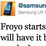 Samsung UK is saying that the Froyo update is being pushed out today for the Galaxy S