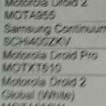 Leaked Verizon price list shows a $179 DROID PRO & $199 Samsung Continuum