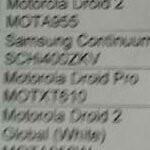 Leaked Verizon price list shows a $179 DROID PRO & $199 Samsung Continuum
