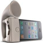 BONE Horn Stand adds 12dB to your iPhone speaker