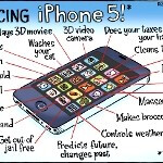 Funny infographic of the iPhone 5's capabilities