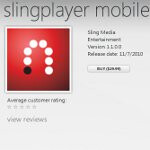 Slingplayer now available in Windows Phone Marketplace for $29.99