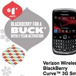 All BlackBerry Curve 3G smartphones are selling for a dollar through Best Buy