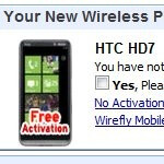 Wirefly is selling the HTC HD7 for $74.99 with a contract