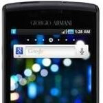 Latest Giorgio Armani phone looks like a close relative of the Samsung Captivate