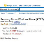Windows Phone 7-powered Samsung Focus available on Amazon for only $49.99