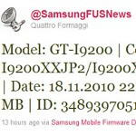 Tweet leaks unknown Samsung GT-i9200