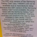 Wi-Fi-only Samsung Galaxy Tab is delayed by Samsung