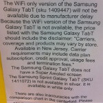 Wi-Fi-only Samsung Galaxy Tab is delayed by Samsung