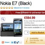 Nokia E7 available for pre-order in Britain, set to cost £584.99 ($922)